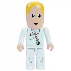 Ludzik pendrive lekarz ze stetoskopem.