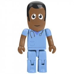Ludzik pendrive pielęgniarz.