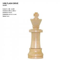 Wooden ER CHESS KING UL407...